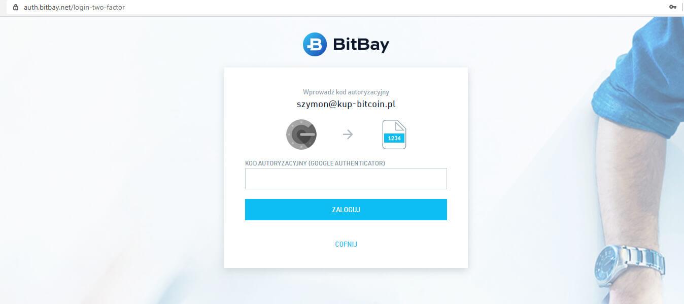 Podwójna autoryzacja w BitBay