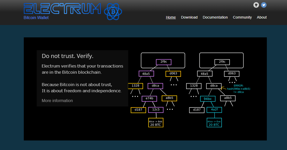 Electrum - portfel bitcoin